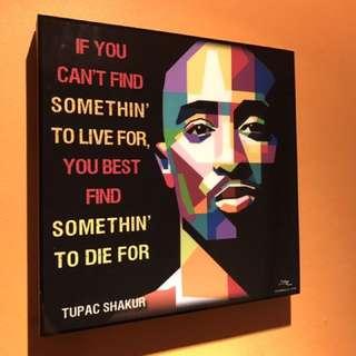 Tupac Shakur : Pop Art Poster Frame