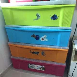 實用儲物膠櫃4格