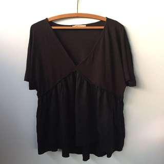 Zara Black Floaty Blouse