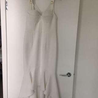 Sheike White Mermaid Dress