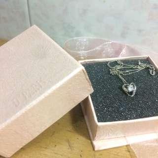 [ORIGINAL] D'PARIS Liontin Love Silver Necklace