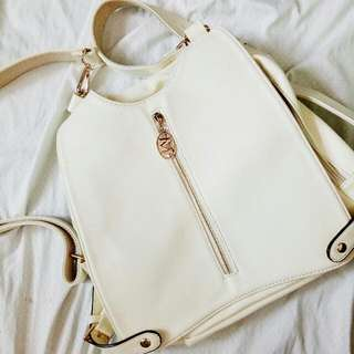REPRICED! Maiyet White backpack (convertible to shoulder bag)