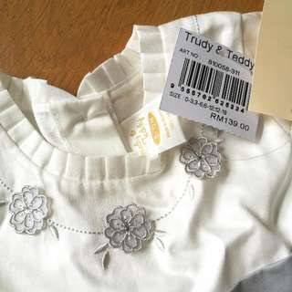NEW Trudy & Teddy Baby Girl Dress