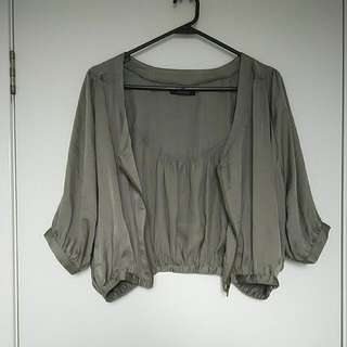 Women's Bomber Jacket Green/Grey Size XS