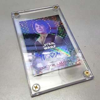 Star Wars Topps The Force Awakens Harriet Walter As Doctor Kalonia Refractor Autograph Card - NFS