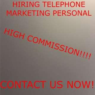 HIRING Telephone Marketing Executive! HIGH COMMISSION!