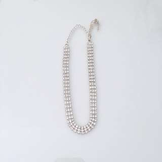 Crystal Diamond Chocker Necklace Bracelet Jewellery