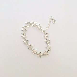 Accessorize Silver Crystal Diamond Jewel Jewellery Bracelet