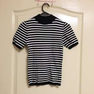 Brand New High Neck Stripes Top