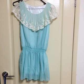 Brand New Green Chiffon Dress