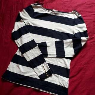 H&M Boatneck Striped Shirt