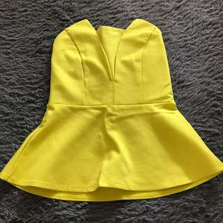 Peplum Top Lime Green 🍋