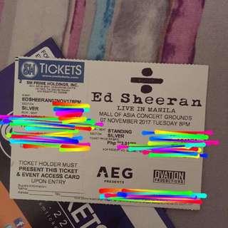 Ed Sheeran- Silver Tickets!