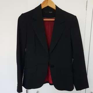 Seduce Black Pin Stripe Work Jacket Blazer Sz 10