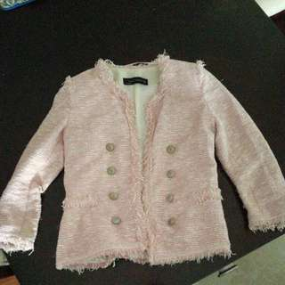 Zara Woman Pink Suit Jacket Size S