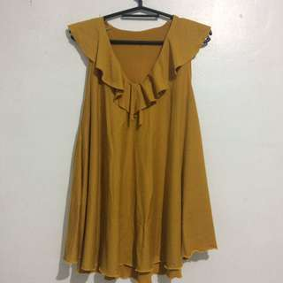 Mustard Yellow Sleeveless Top