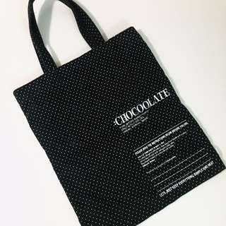 Chocolate Black Tote Bag