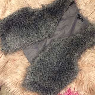 3 For $10 Faux Fur Sleeveless Vest In Grey