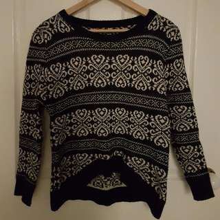 Navy Winter Sweater Cardigan Knit /Jumper