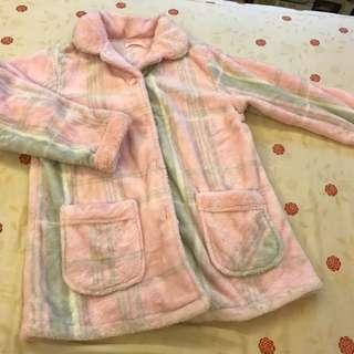 毛毛保暖兩截式睡衣褲