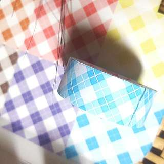 Washi Tape / Paper Tape (Checkered Blue)