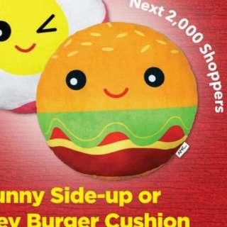 BNIB AMK Hub Burger Cushion