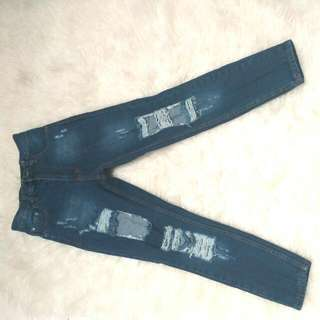 Ripped Jeans Size M Punny Jeans Made Ini Thailand