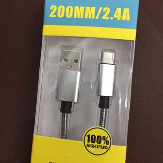 New!!! Type C to USB Cable (Metal Braided Flexible)