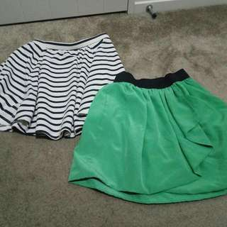 2 Flared Skirts For $4