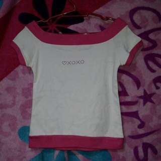 White and Pink top for women
