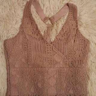 Blush Lace Crop