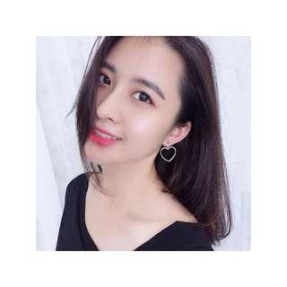 [PO] Heart Clip On Earrings