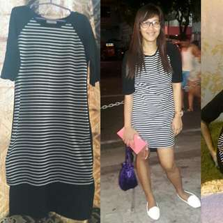 Stripe Longback Dress