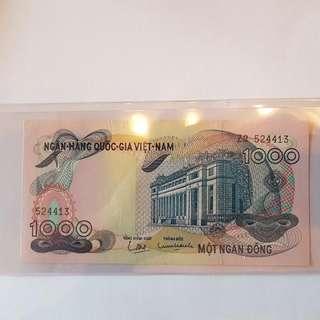 Vietnam Bank Note. $1000 unc
