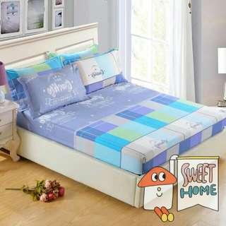 床罩加2信封枕頭套 150×200  純棉
