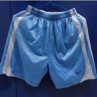 M&T 淺藍白雙面球褲 波褲