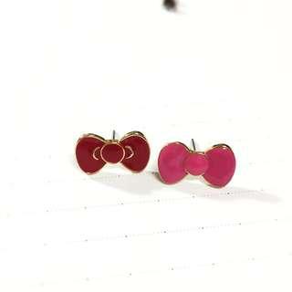 Hello Kitty 蝴蝶結耳環
