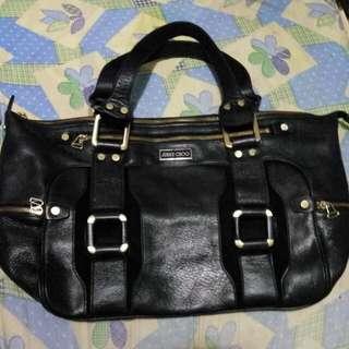 REPRICED!!!!  PRELOVED JIMMY CHOO black Bag LARGE/MATIBAY (leather)