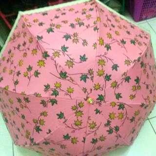 NEW!!Payung Lipat Pink Motif