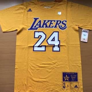 Adidas Los Angeles Lakers Kobe Bryant Last Game Number Tee