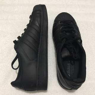 Adidas All Black Superstars