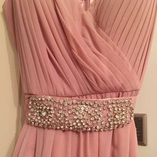 Pink Long Gown Dress
