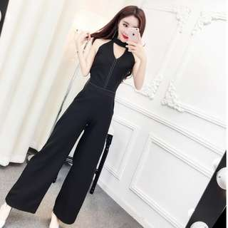 Brand new instock / halterneck jumpsuit / one piece culottes/ party clothes / wedding clothes / sexy romper