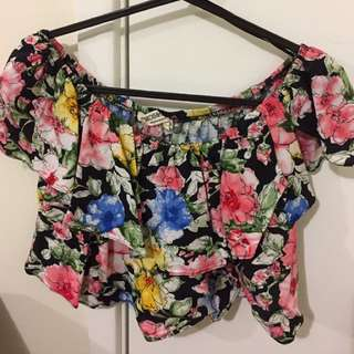 ATMOS&HERE OFF SHOULDER CROP TOP SIZE AU 6 New