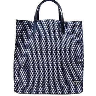 Prada shopping bag / tote bag PRADA VA0905 TESSUTO STAMPAT FUMO D