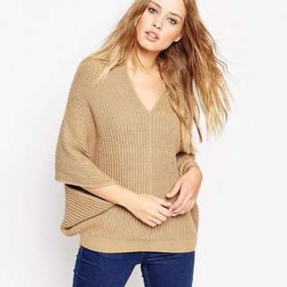 ASOS Cape Jumper With V-Neck Size AU XS Used Once
