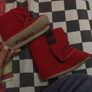 Maoo Baby Boots Red