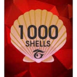 Garena 1000 Shells