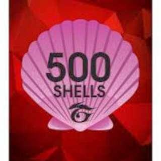 Garena 500 Shells