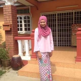 Baju linen & Kain Batik Lipat Depan